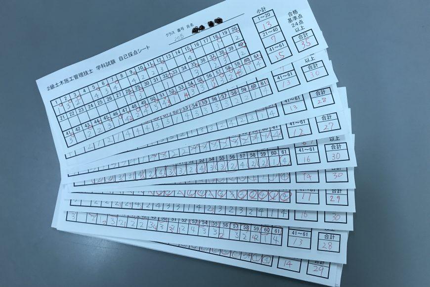 2級土木施工管理技士(学科試験)速報